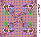 multicolor ornament of small... | Shutterstock . vector #601787705