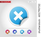 colored icon or button of... | Shutterstock .eps vector #601790732