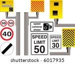illustrated speed camera... | Shutterstock .eps vector #6017935