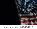 usa flag background with... | Shutterstock . vector #601808918