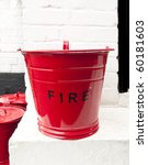 Striking Retro Red Fire Bucket...