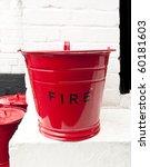Striking Retro Red Fire Bucket...
