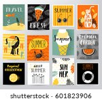 summer set | Shutterstock .eps vector #601823906