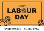 1 may labour day greeting card... | Shutterstock .eps vector #601831952