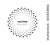 halftone vector element | Shutterstock .eps vector #601833866