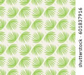 seamless pattern with palm... | Shutterstock .eps vector #601837916