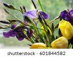 Bunch Of Irises And Yellow...
