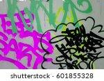 beautiful street art of... | Shutterstock . vector #601855328