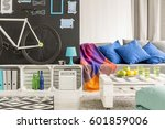 small and comfortable student...   Shutterstock . vector #601859006