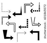 big set of arrows for design... | Shutterstock .eps vector #601865072
