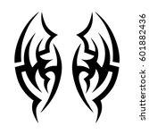 vector tribal tattoo designs.... | Shutterstock .eps vector #601882436