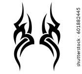 tattoo tribal shoulder wave... | Shutterstock .eps vector #601882445
