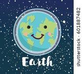 vector cartoon illustration of... | Shutterstock .eps vector #601887482
