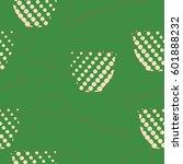 seamless pattern  halftone ... | Shutterstock .eps vector #601888232