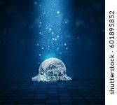 melted disco ball   3d... | Shutterstock . vector #601895852
