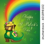 vector greetings card for st.... | Shutterstock .eps vector #601898102