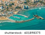 sea port city of larnaca ...   Shutterstock . vector #601898375
