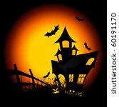 halloween night background with ... | Shutterstock .eps vector #60191170