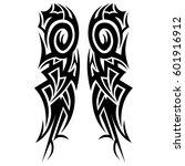 vector tribal tattoo designs.... | Shutterstock .eps vector #601916912