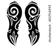 tattoo tribal vector designs... | Shutterstock .eps vector #601916945