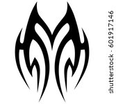 vector tribal tattoo designs.... | Shutterstock .eps vector #601917146