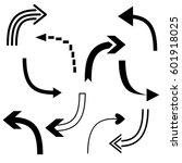 big set of arrows for design... | Shutterstock .eps vector #601918025