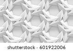 white shaded abstract geometric ... | Shutterstock . vector #601922006