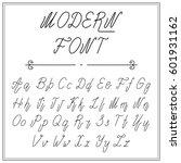 handwritten lettering font... | Shutterstock .eps vector #601931162