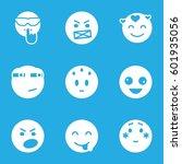 mood icons set. set of 9 mood... | Shutterstock .eps vector #601935056
