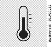 thermometer icon. goal flat...