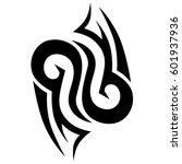 vector tribal tattoo designs.... | Shutterstock .eps vector #601937936