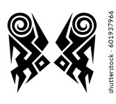 vector tribal tattoo designs.... | Shutterstock .eps vector #601937966