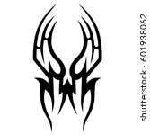 tribal tattoo art designs.... | Shutterstock .eps vector #601938062