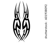 vector tribal tattoo designs.... | Shutterstock .eps vector #601938092