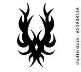 tribal tattoo art designs.... | Shutterstock .eps vector #601938116