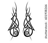 vector tribal tattoo designs.... | Shutterstock .eps vector #601938266