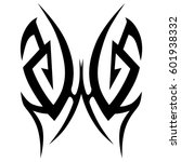tribal tattoo art designs.... | Shutterstock .eps vector #601938332