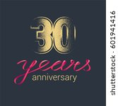 30 years anniversary vector... | Shutterstock .eps vector #601941416