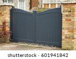 Wooden  Dark Gray Garden Gate.