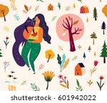 seamless pattern  in cartoon... | Shutterstock .eps vector #601942022