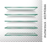 empty glass shelves template... | Shutterstock .eps vector #601943666