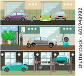 vector set of car service... | Shutterstock .eps vector #601948982