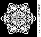 lace round paper doily  lacy... | Shutterstock .eps vector #601954436