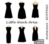 set. little black dress. for... | Shutterstock .eps vector #601955462