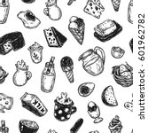 hand drawn pattern with vector... | Shutterstock .eps vector #601962782