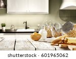 desk in kitchen  | Shutterstock . vector #601965062