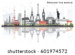 travel concept around the world ... | Shutterstock .eps vector #601974572