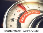 maintenance time   business or... | Shutterstock . vector #601977032