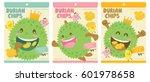 cute durian vector packaging... | Shutterstock .eps vector #601978658