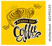 coffee menu graphic element for ... | Shutterstock .eps vector #601992155